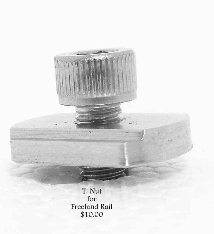Tee-Nut for a Freeland Rail - 1 pair